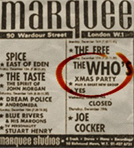 The Marquee Club Ad